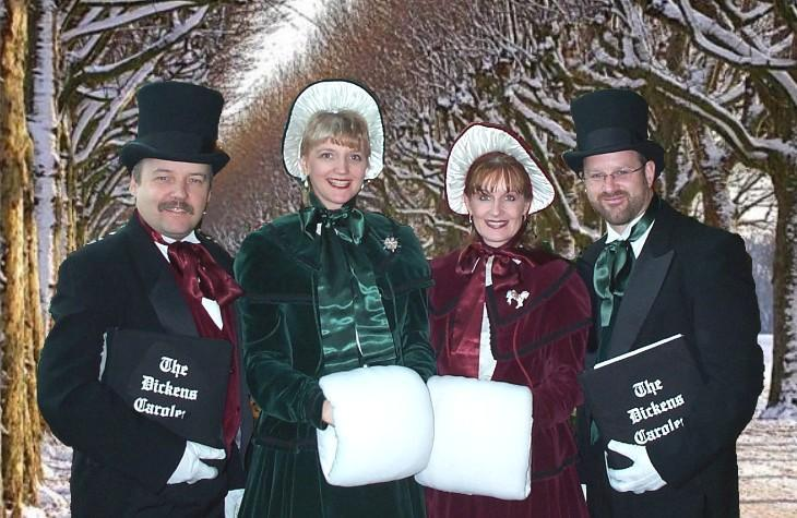 The Dickens Carolers Winter Scene